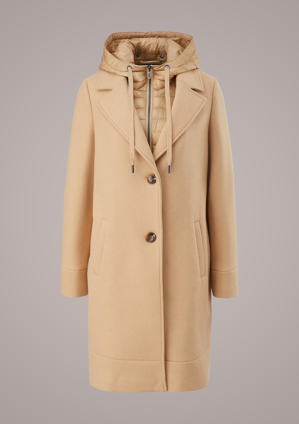 Mantel mit Kapuzeneinsatz
