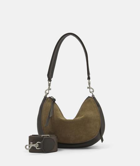 Kleine Handtasche in Halbmondform