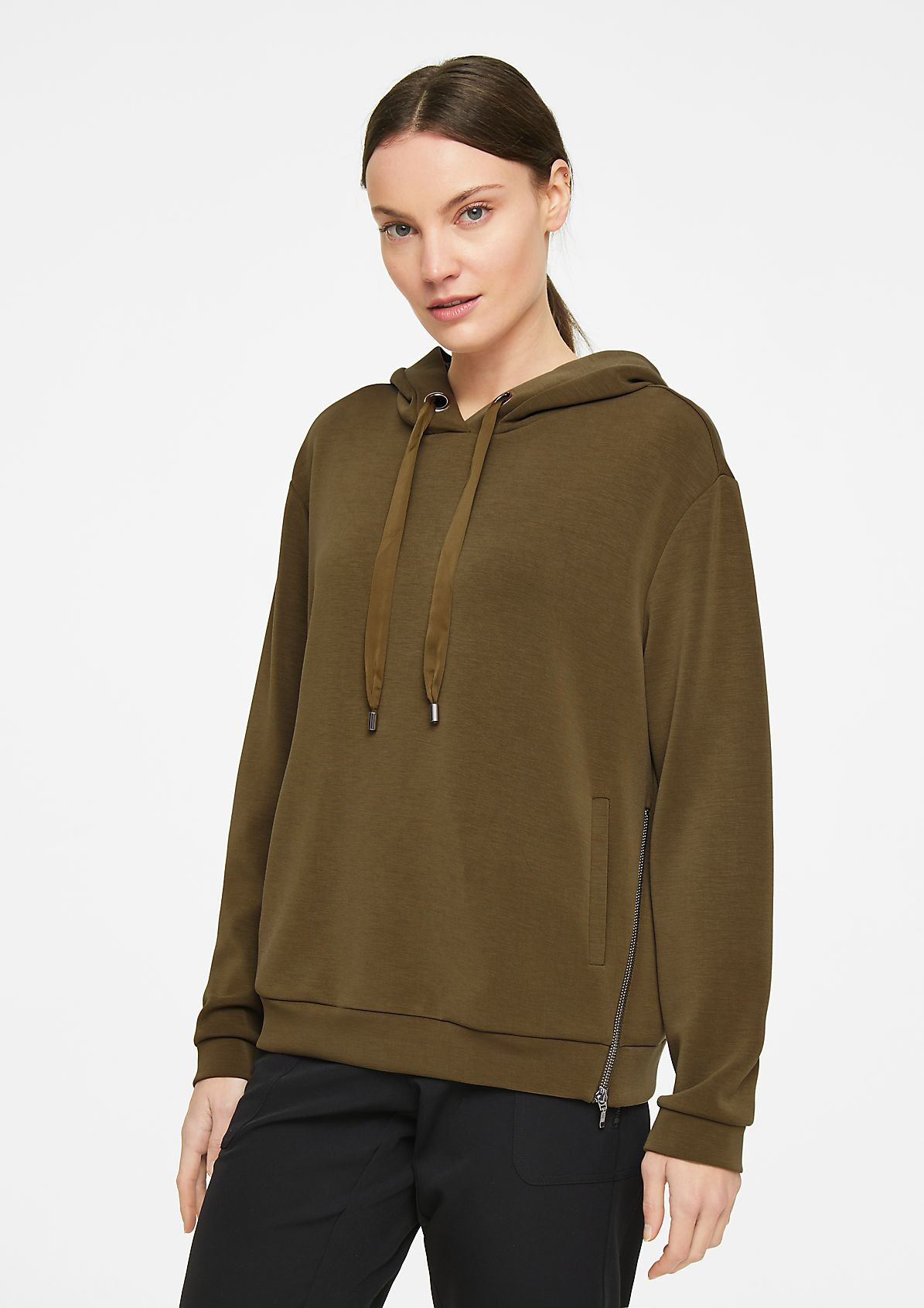 Hooded top in a scuba look from comma