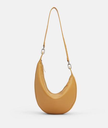 Halbrunde Tasche aus Lammleder