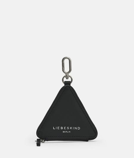Dreieckiger Taschenanhänger aus Leder