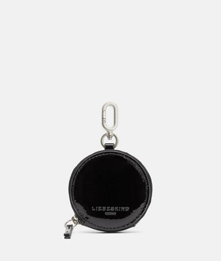 Rundes Taschen-Accessoire aus Lackleder