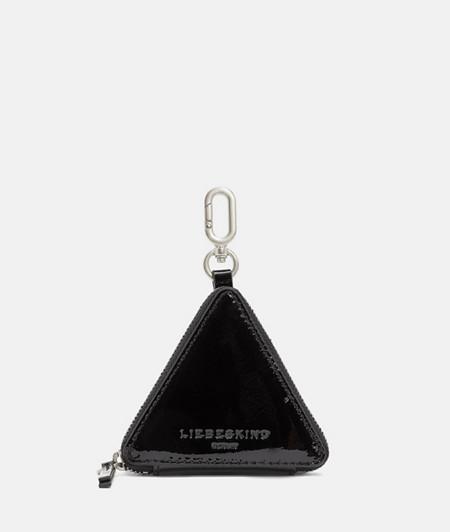 Dreieckiger Taschen-Anhänger in Naplack