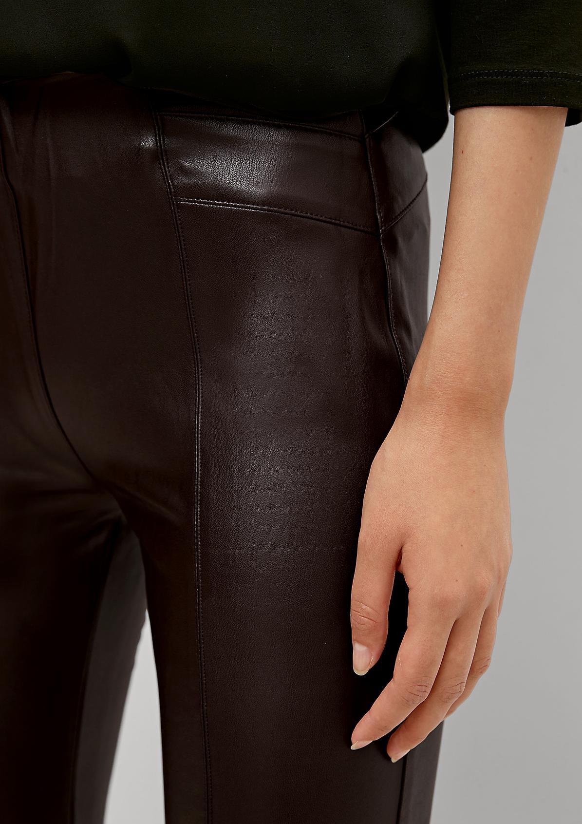 Slim: Hose in Leder-Optik