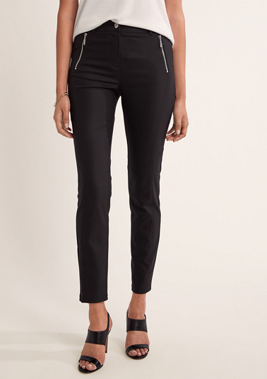 Slim: stretchy 7/8 trousers from comma