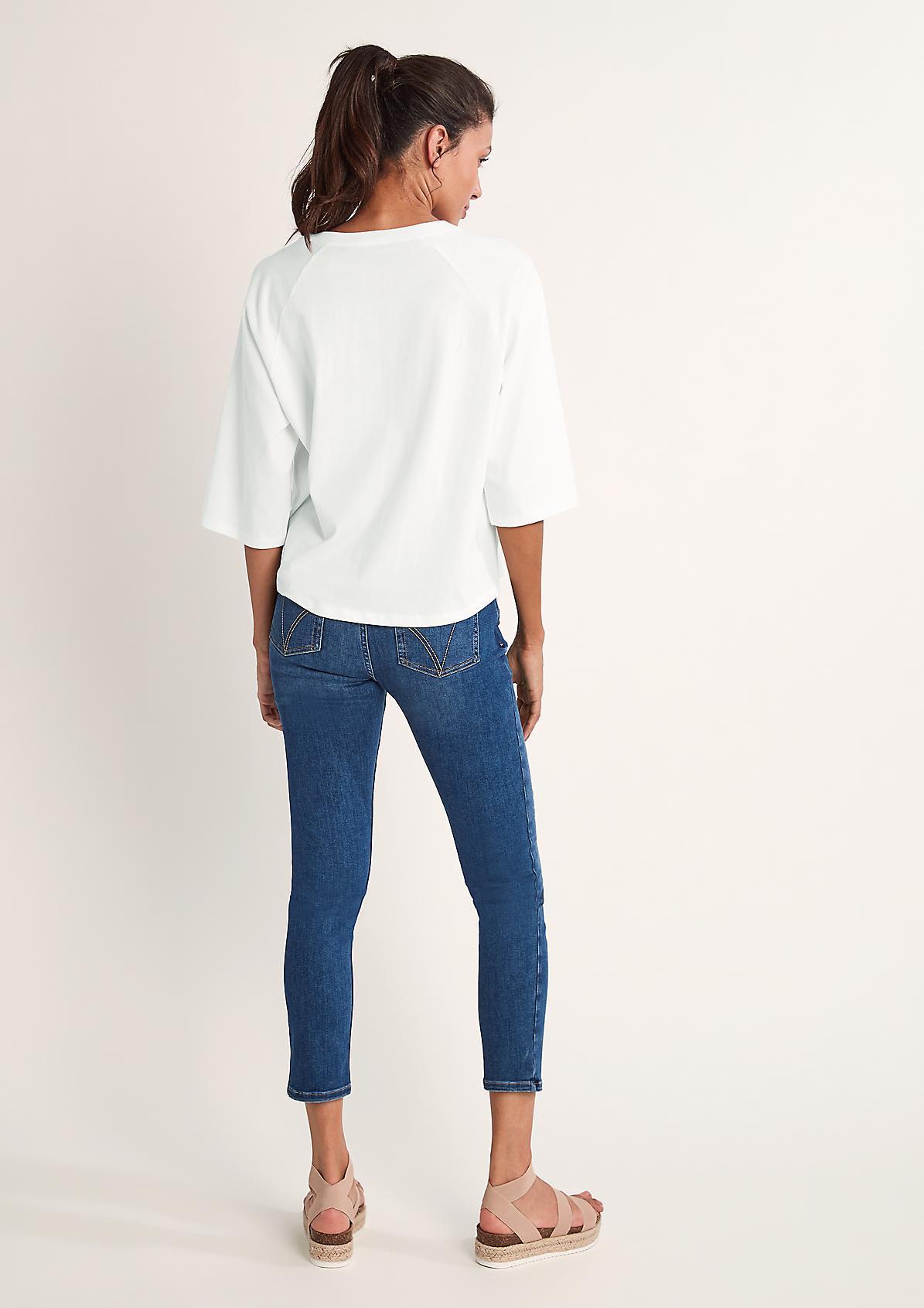 Jerseyshirt mit Blusenfront