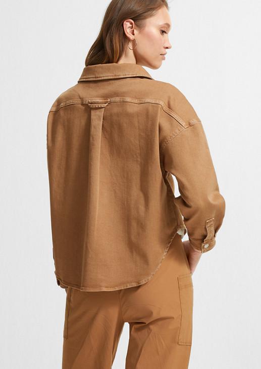 Lässig geschnittene Denim-Bluse