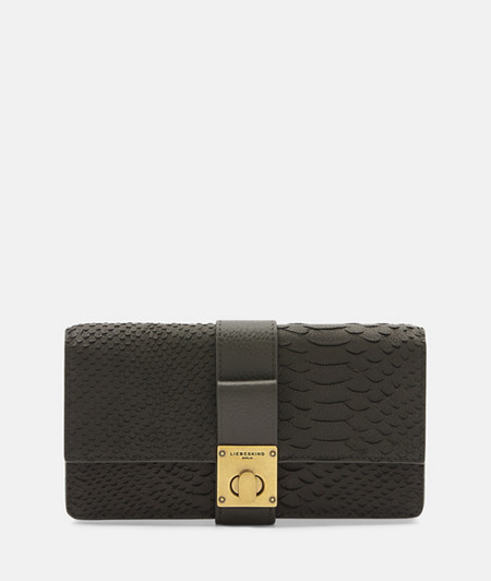 Elegant purse with snakeskin embossing from liebeskind