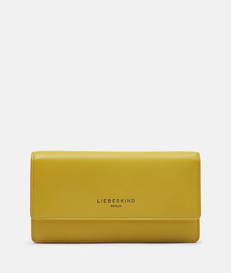 Flap wallet with soft leather from liebeskind
