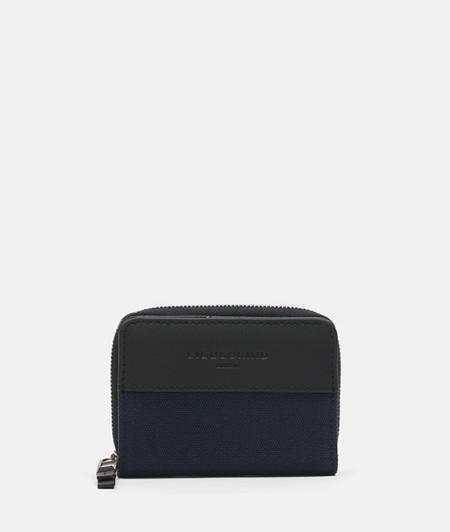 Geldbörse aus Canvas mit Leder