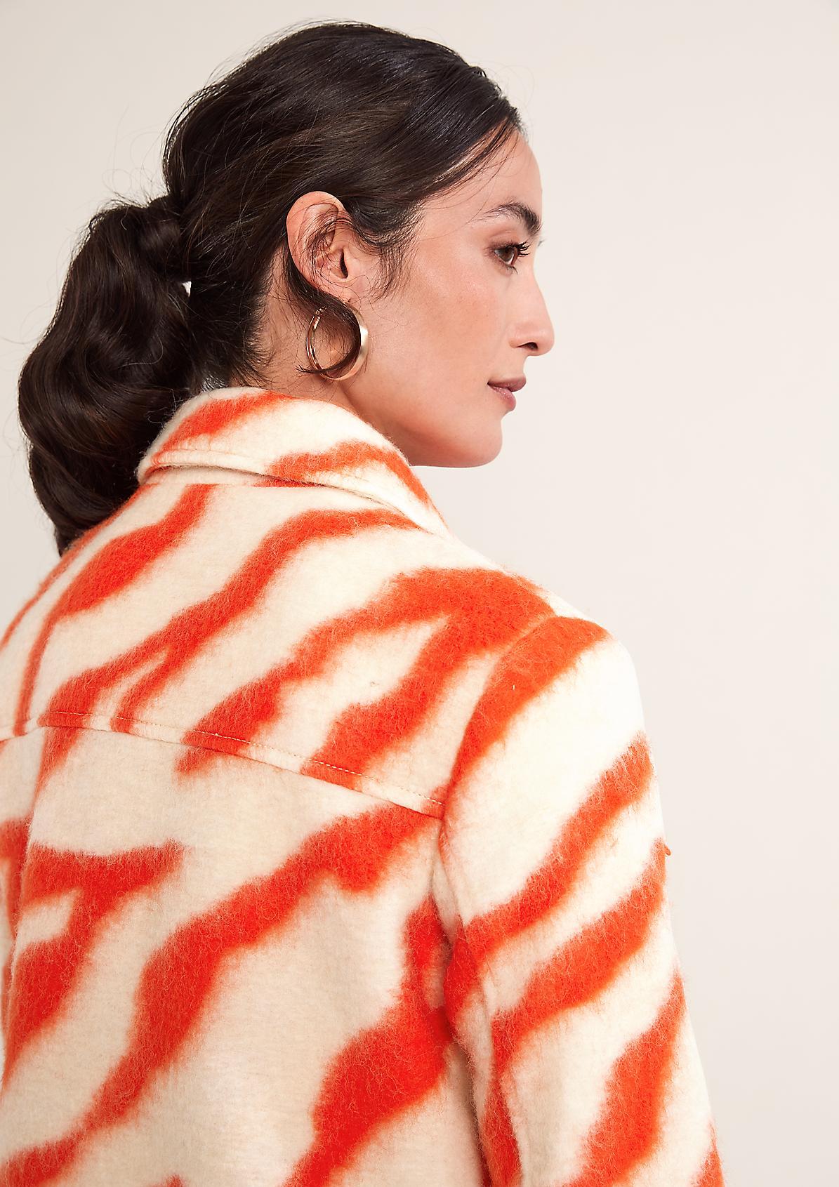 Zebrajacke aus Boiled Wool