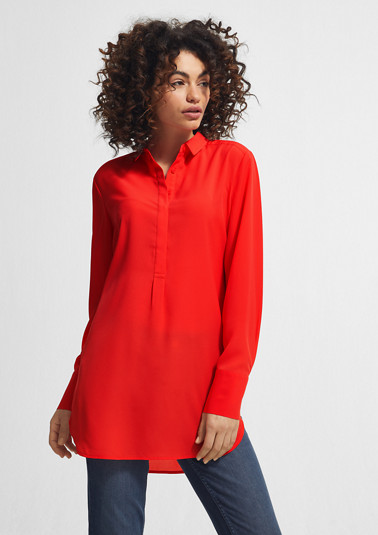 Chiffonbluse in Long-Shape
