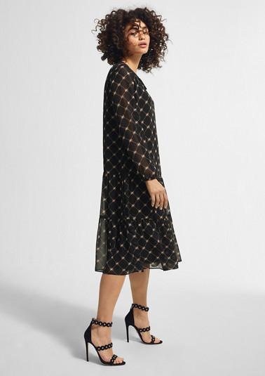 Flounce dress made of chiffon from comma