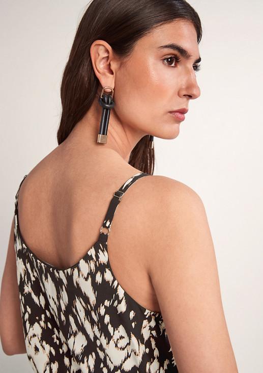 Leichtes Viskosekleid mit Muster