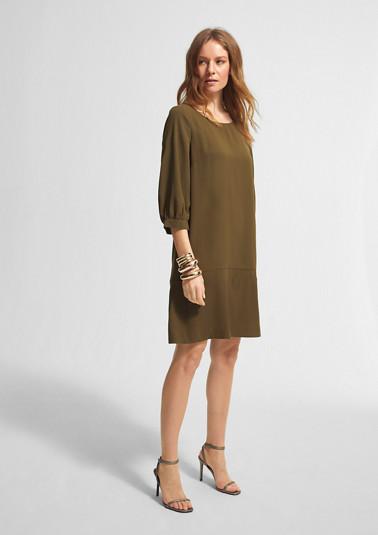 A-Linien-Kleid aus Crêpe