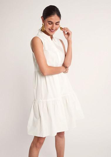 Baumwollkleid mit Blusenkragen