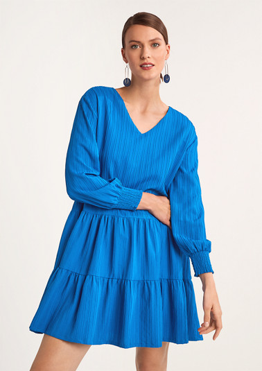 Jacquard dress in blended viscose from comma