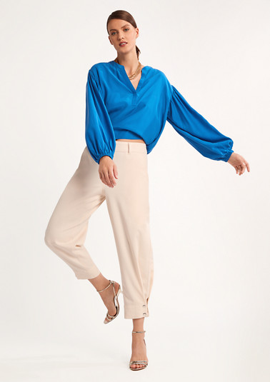 Loose blouse in blended cupro from comma