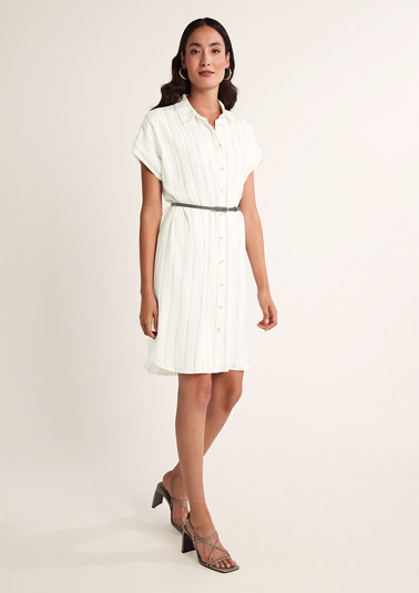 Blouse dress with stripes from comma