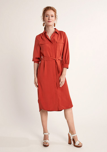 Dress with a blouse collar from comma