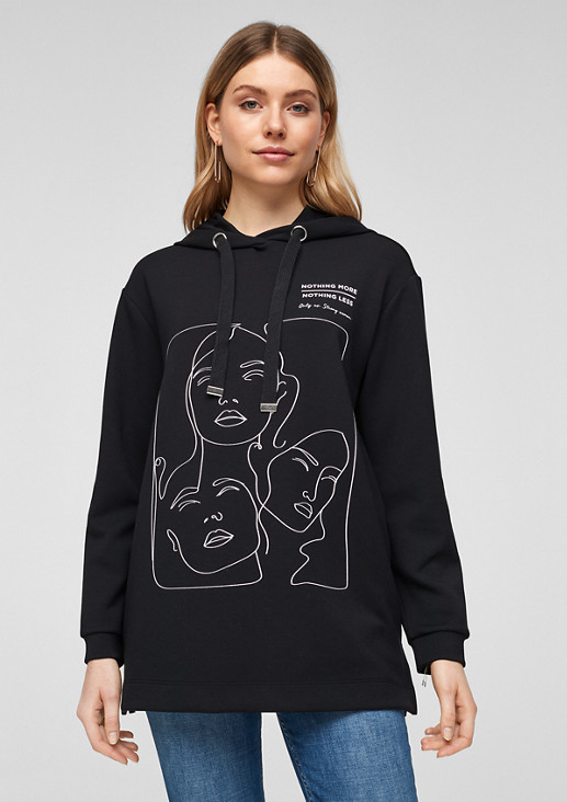 Hoodie with a graphic print from comma