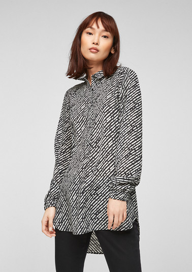 Printed chiffon blouse from comma