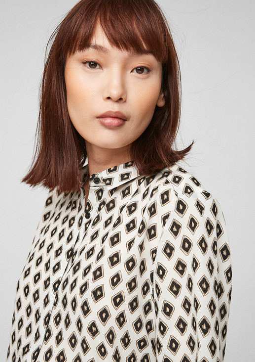 Bedruckte Bluse aus Chiffon