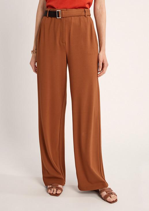 Regular: Hose aus Jersey-Twill