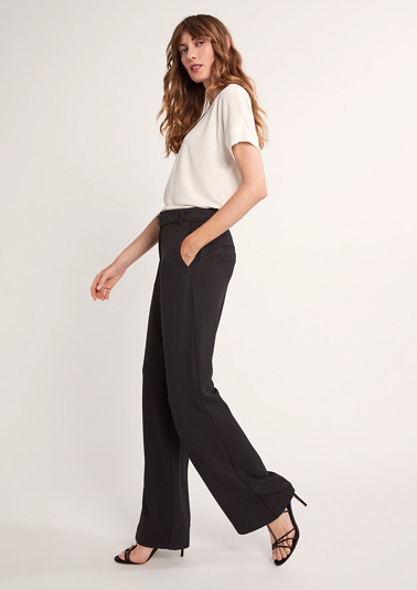 Regular: Jersey twill trousers from comma