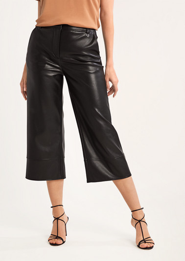 Regular: faux leather trousers from comma