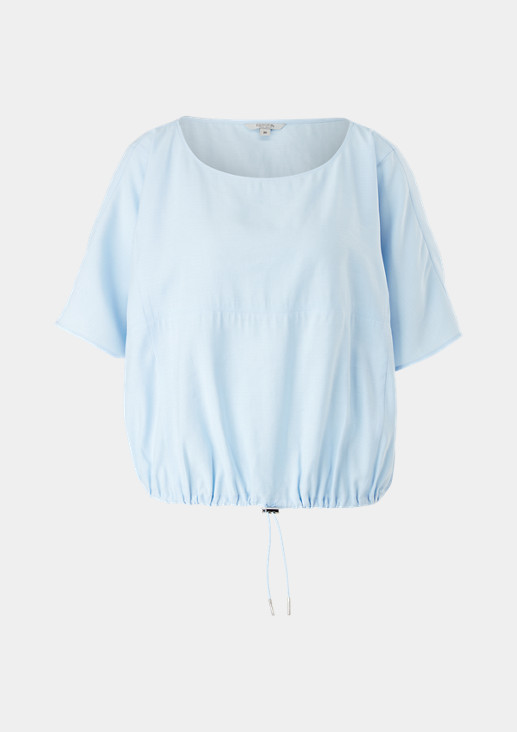 Blouse top with a drawstring from comma