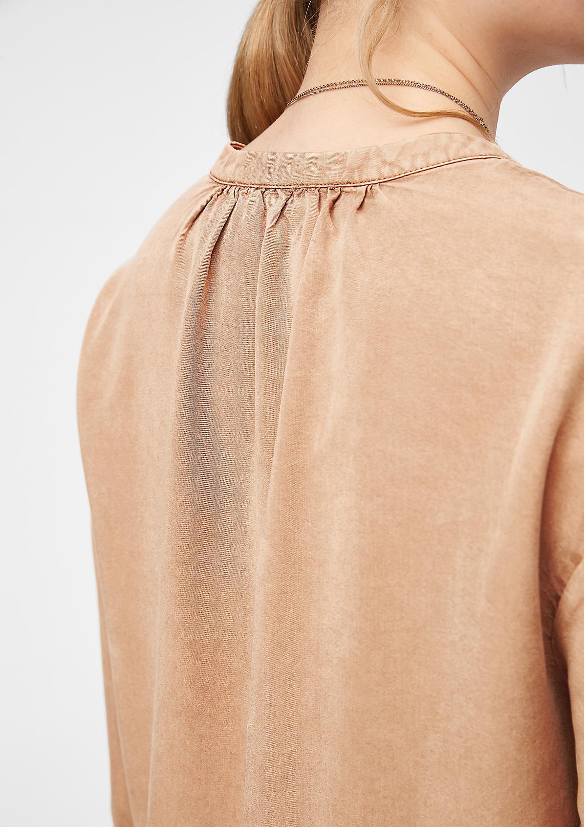 Lyocell-Kleid mit Volants