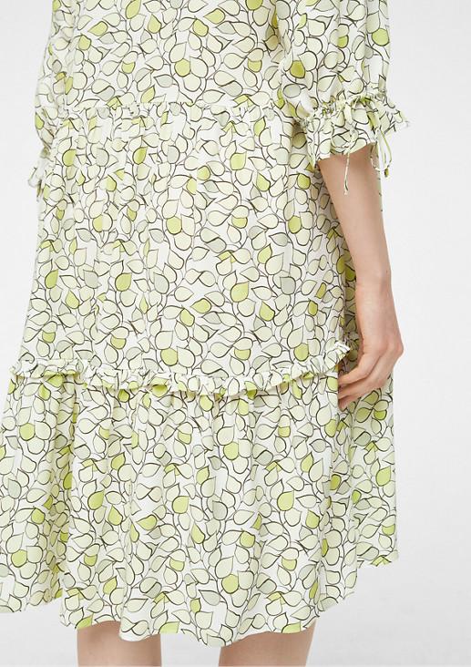 Stufenkleid mit Muster