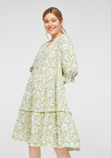 Tiered dress with pattern from comma