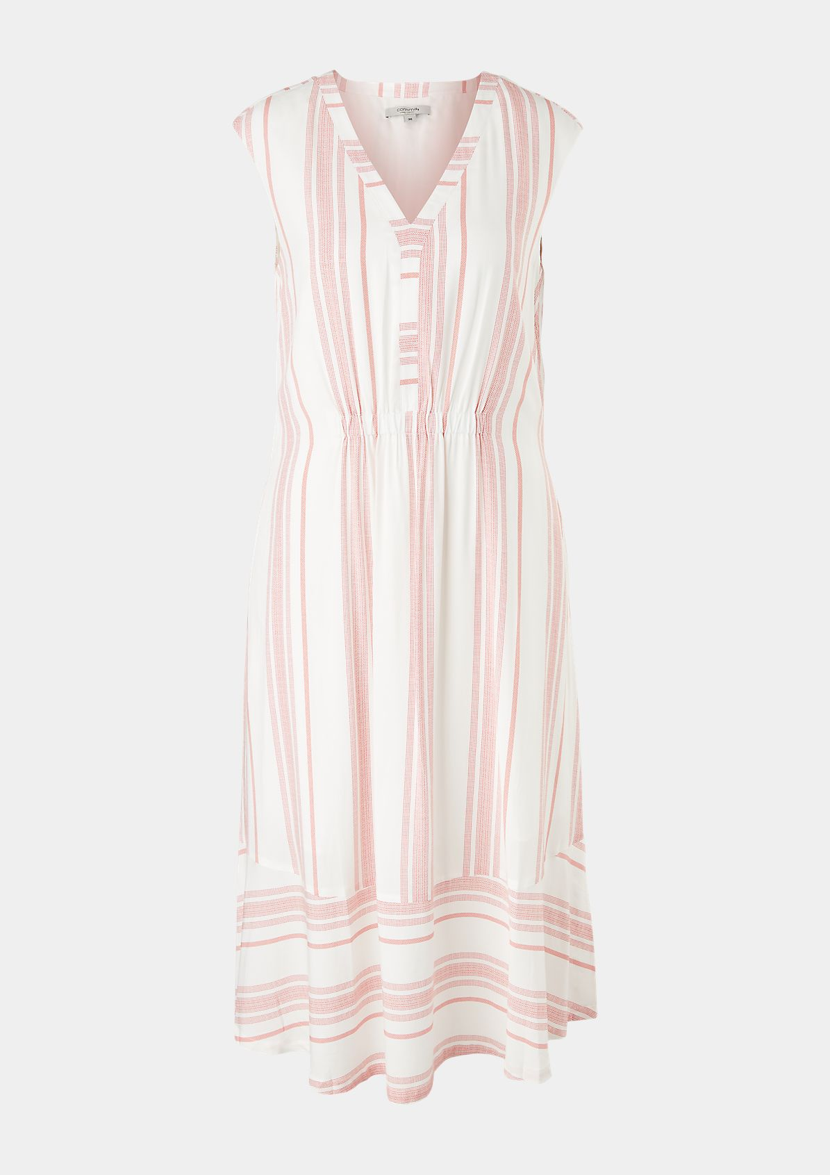 Striped viscose dress from comma