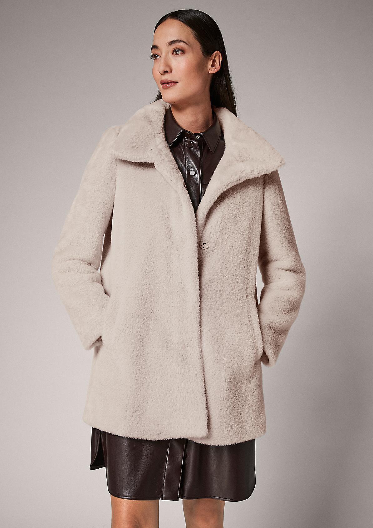 Weiche Jacke aus Kunstfell