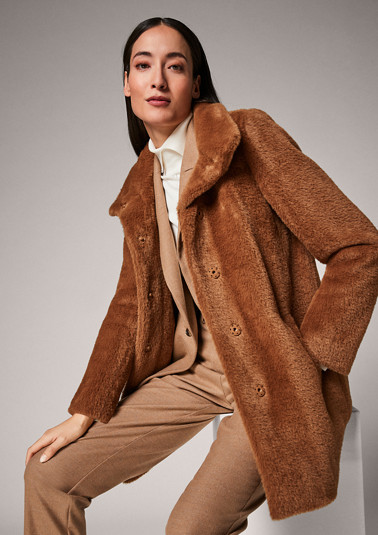 Soft faux fur jacket from comma