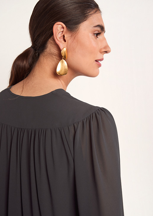 Leichtes Blusenkleid aus Chiffon