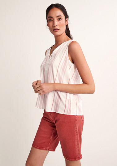 Streifen-Bluse aus Baumwolle