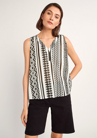 Striped cotton blouse from comma
