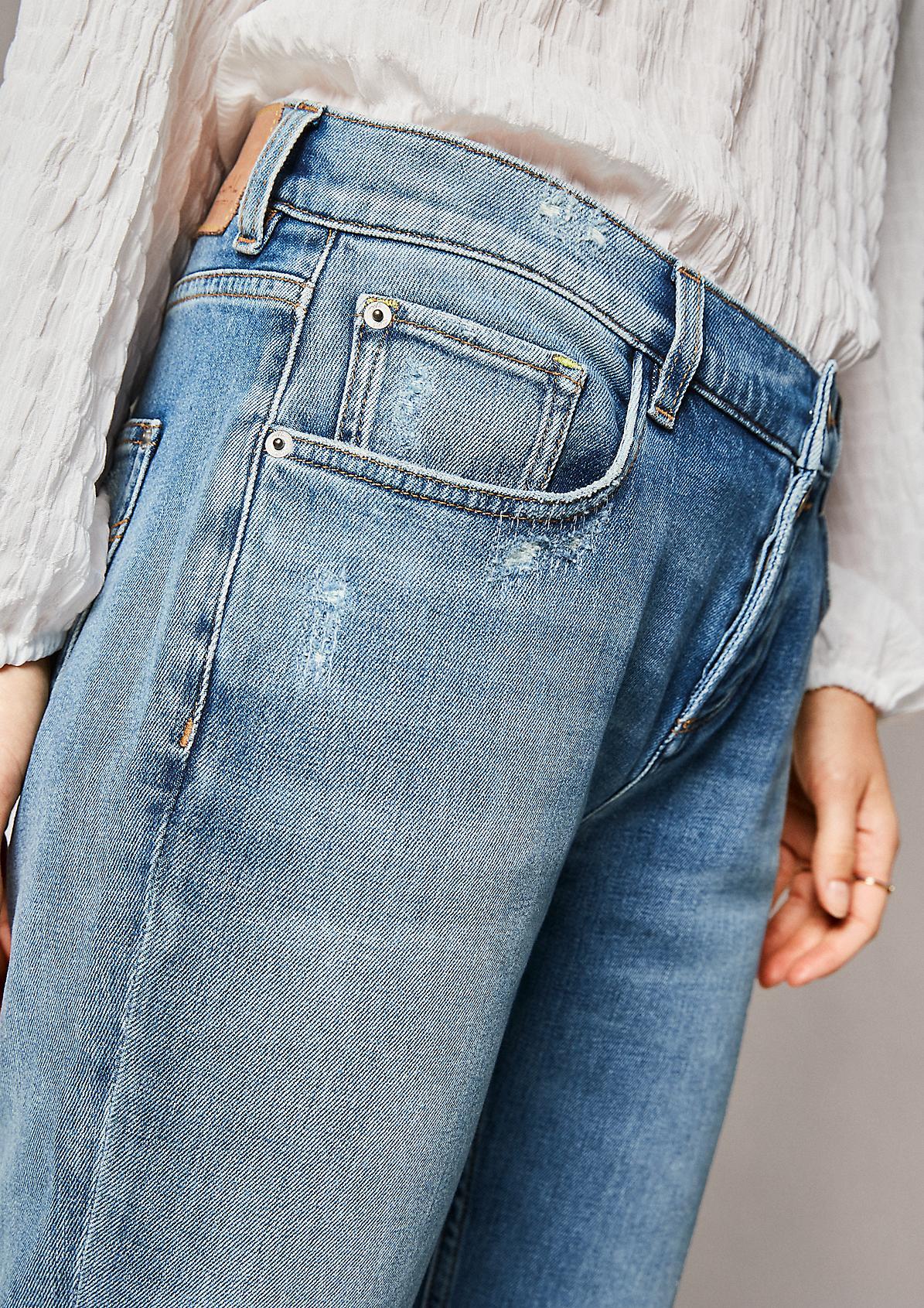 Regular: Jeans im Used-Look