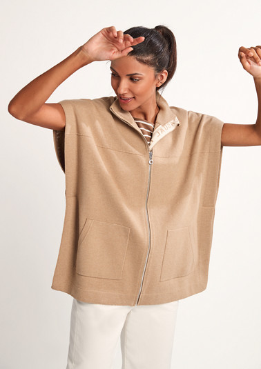 Poncho jacket with logo lettering from comma
