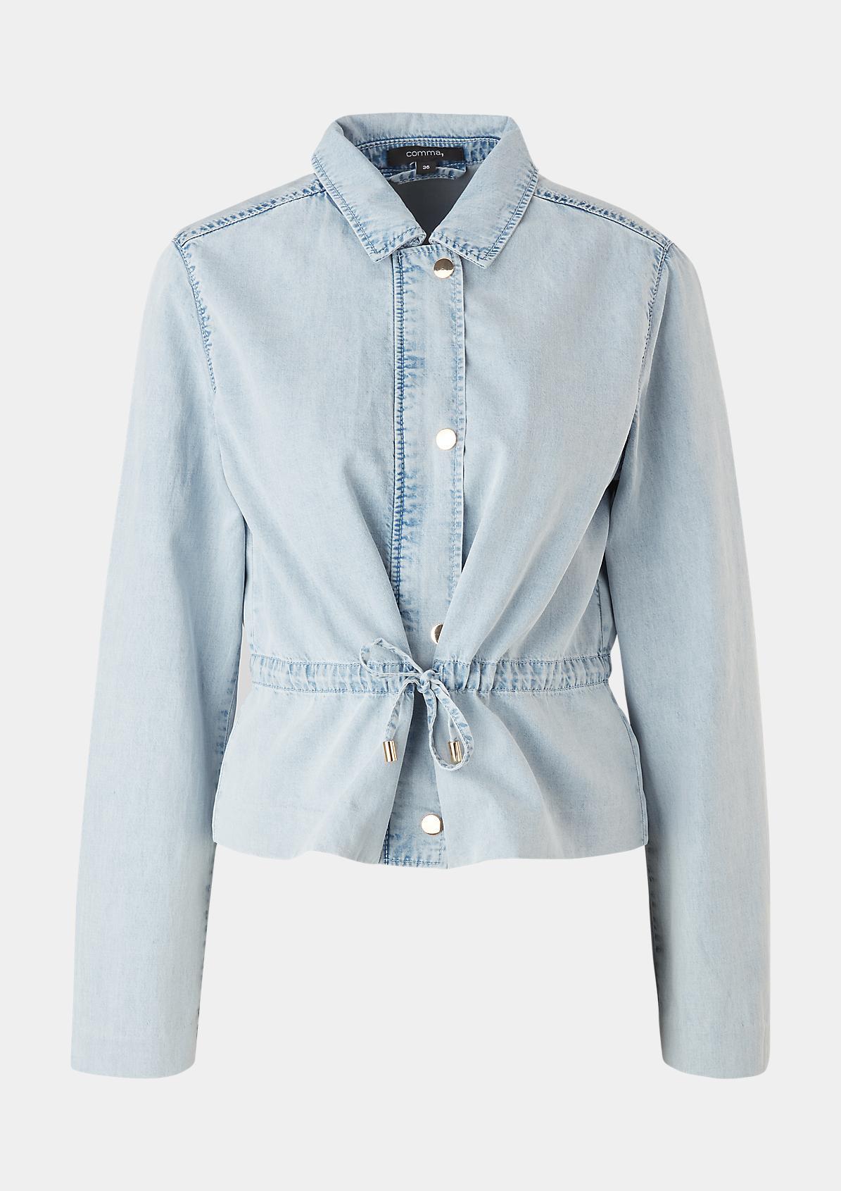 Blusenjacke aus Lyocell-Denim