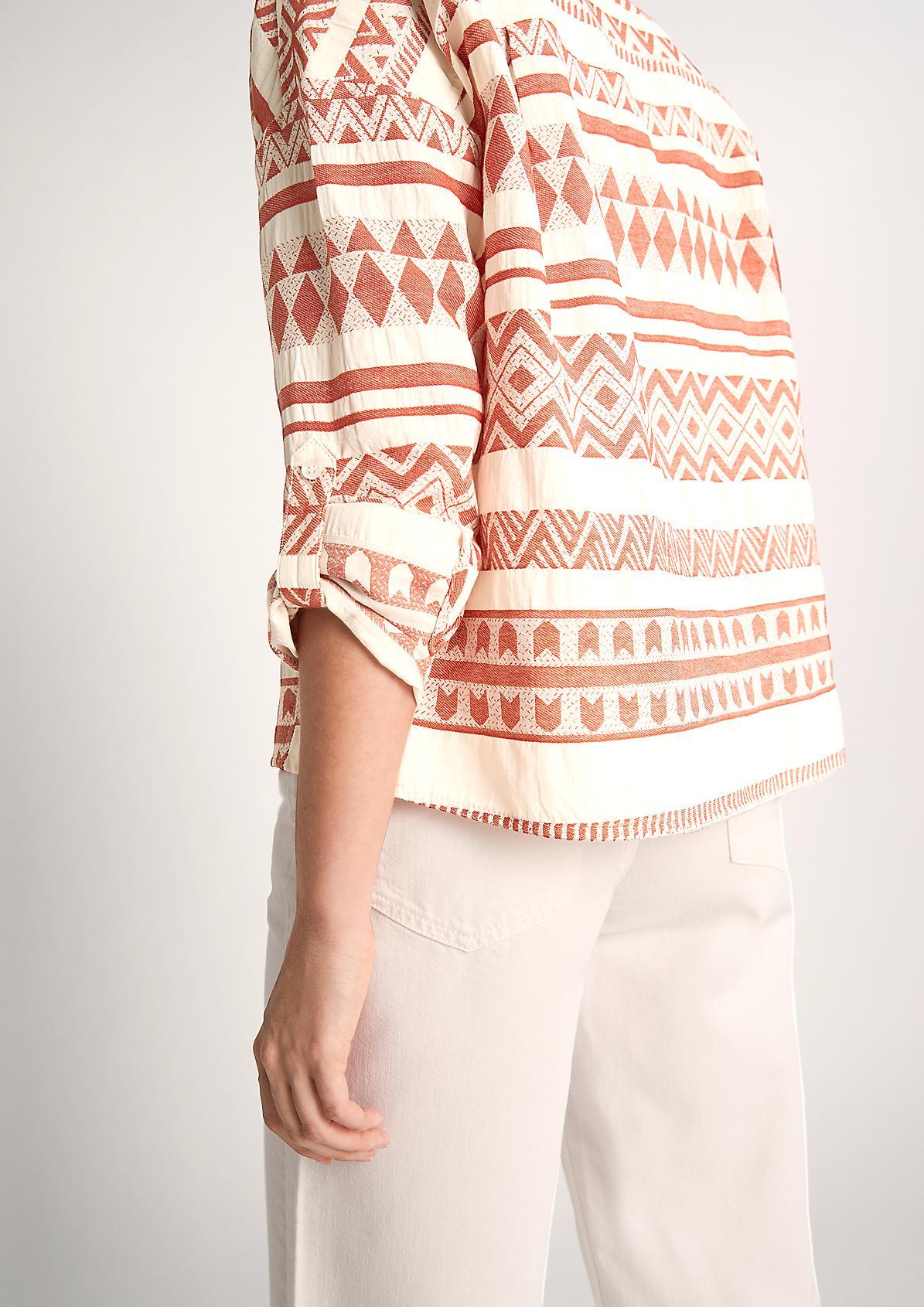 Bluse mit indianischem Webmuster
