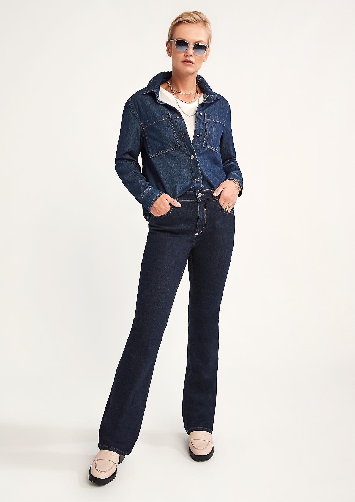 Regular: Jeans mit Flared leg