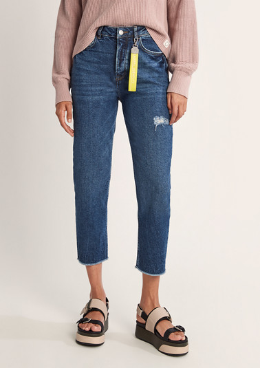 Mom-Jeans im Used Look