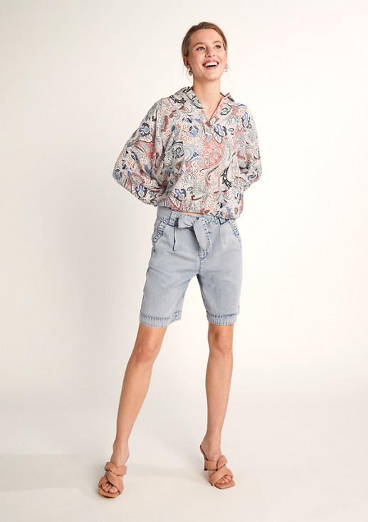 O-Shape-Bluse aus Viskose