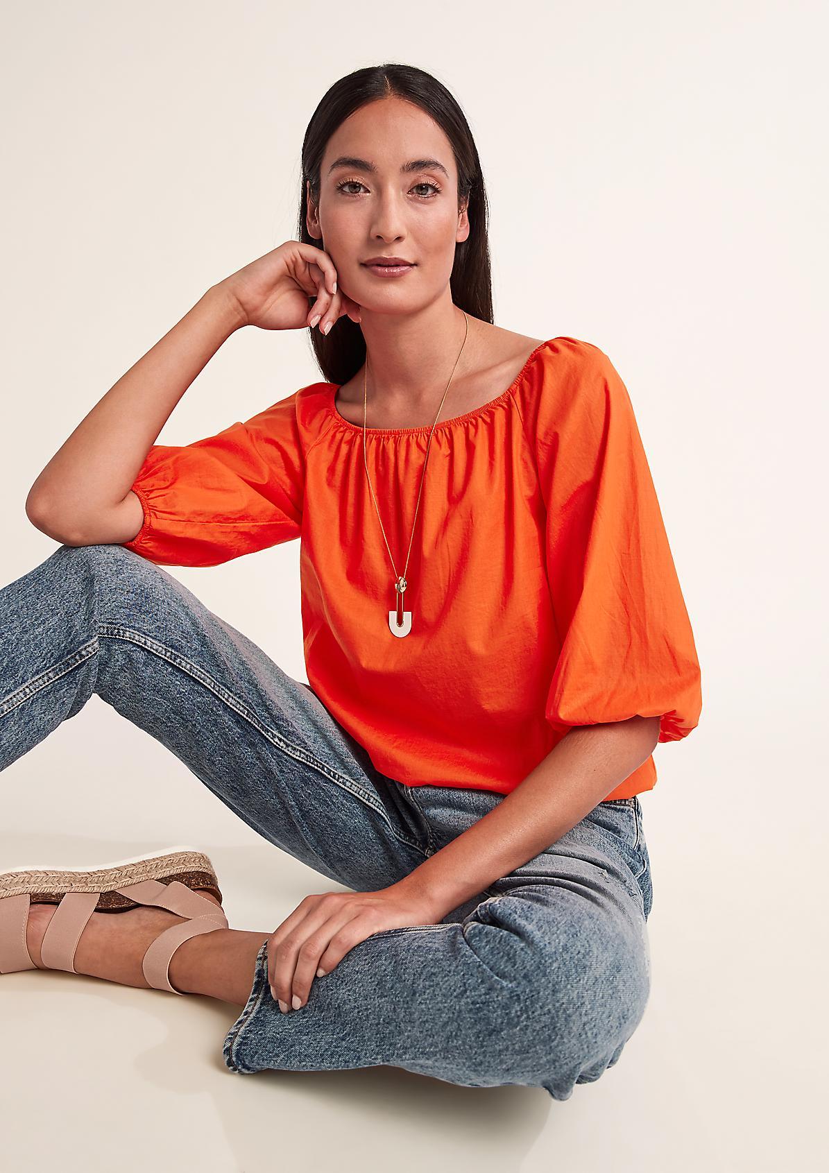 Off Shoulder-Bluse in Unicolor