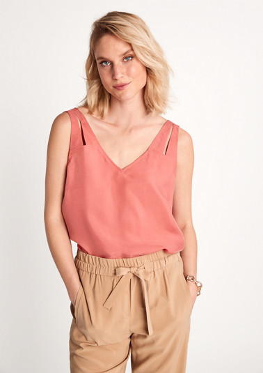 Blended cupro blouse top from comma