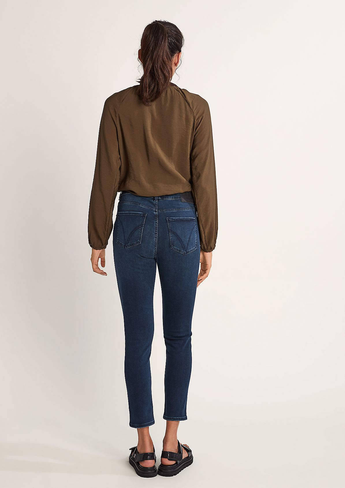 Skinny: Jeans mit Schlüsselanhänger